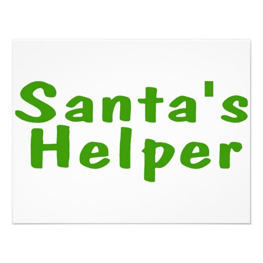 Santas Helper Green Custom Announcement