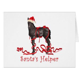 Santa's Helper Horse Colt Card