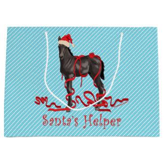 Santa's Helper Horse Colt Large Gift Bag