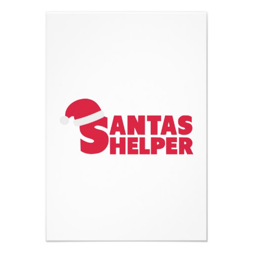 Santas Helper Invite