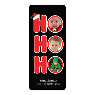 Santas Ho Ho Ho Christmas Personalized Photo Card