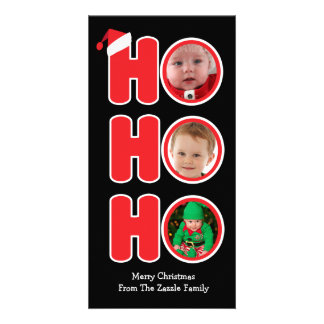 Santas Ho Ho Ho Christmas Photo Frame Custom Photo Card
