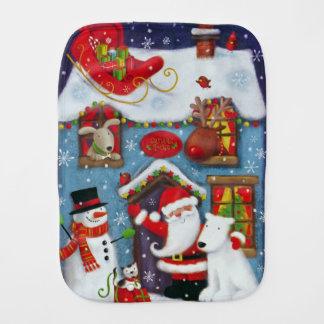 Santa's House Burp Cloth