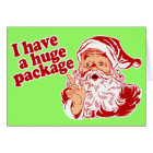 Santas Huge Package Card