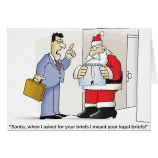 Santa's Legal Briefs Greeting Card