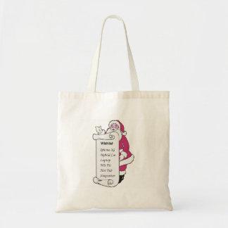 Santa's List Budget Tote Bag