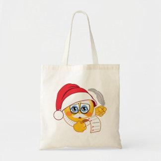 Santa's List Christmas Emoji Tote Bag