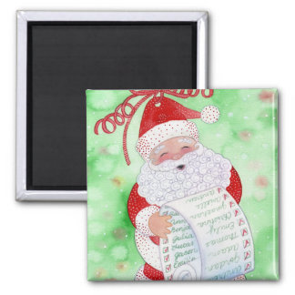 Santa's List Square Magnet