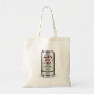 Santa's Little Helper Beer Can Tote Bag