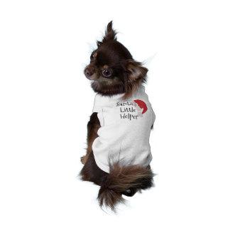 Santa's Little Helper Cute Christmas Dog Shirt
