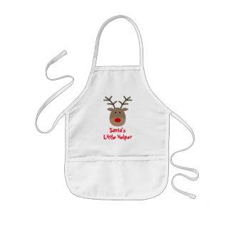 Santa's little helper cute Christmas reindeer kids Kids Apron