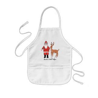 Santa's Little Helper Kids Christmas Apron