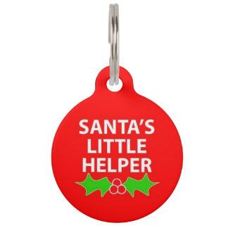 Santa's Little Helper Pet ID Tag