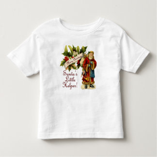 Santa's Little Helper! w/ Vintage Victorian Santa Toddler T-Shirt