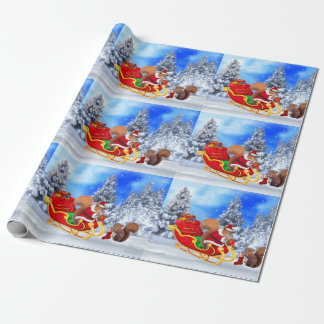 SANTA'S LITTLE HELPER WRAPPING PAPER