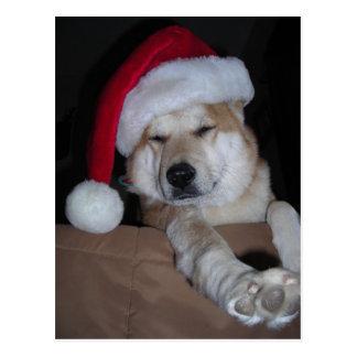 Santa's Little Shiba-Inu Helper Postcard