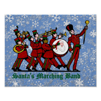 Santa's Marching Band Poster