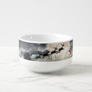 Santa's Midnight Ride Christmas Soup Mug