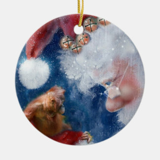 Santa's Monkey Business Charity Christmas Ornament