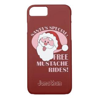 Santa's Mustache Rides custom name phone cases