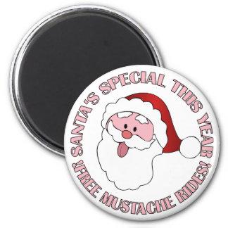 Santa's Mustache Rides magnet
