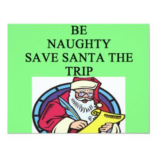 santa's naughty list 11 cm x 14 cm invitation card