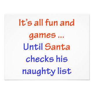 Santa's Naughty List Custom Announcement