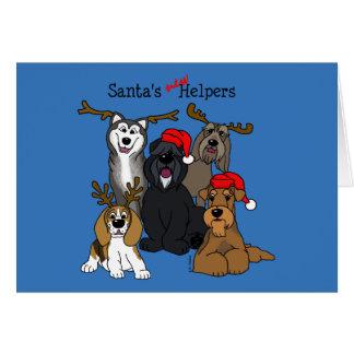 Santas new helpers card