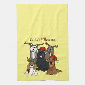 Santas new helpers tea towel
