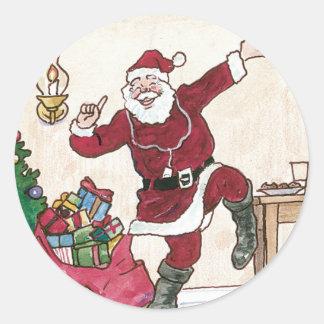 Santa's new ipod Christmas Stickers