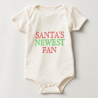 Santa's Newest Fan Baby Creeper