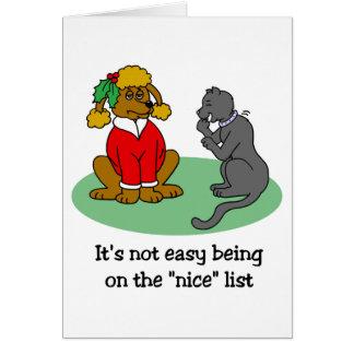 Santa's Nice List Greeting Card