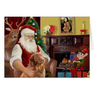 Santa's Nova Scotia Retriever Card