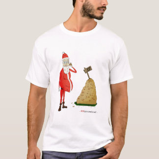 """Santa's Off-season"" White T-Shirt"