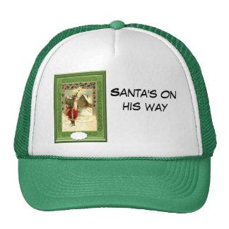 Santa's on his way cap