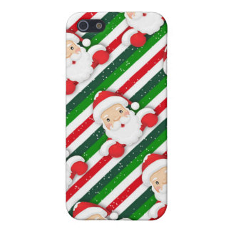 Santas on Stripes Cases For iPhone 5