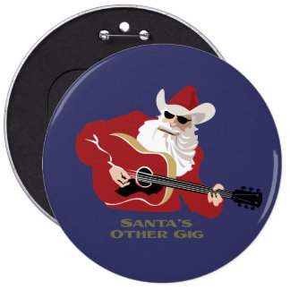 Santa's Other Gig 6 Cm Round Badge