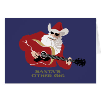 Santa's Other Gig Greeting Card
