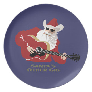 Santa's Other Gig Plates