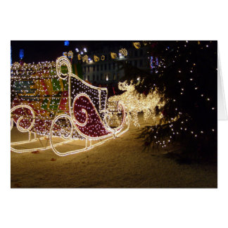 Santa's Outdoor Sleigh Christmas Card