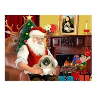 Santa's Pekingese Postcard