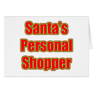 Santa's Personal Shopper Card