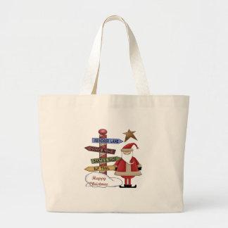 Santa's Pole Jumbo Tote Bag