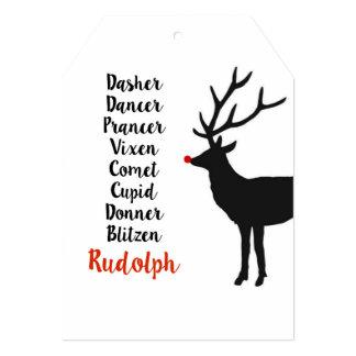 Santa's Reindeer | Greeting Card 13 Cm X 18 Cm Invitation Card