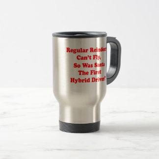 santa's reindeer hybrid pun travel mug