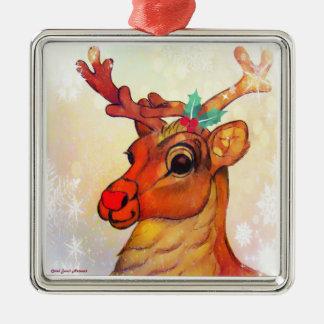 Santa's Reindeer Ornament by Carol Zeock