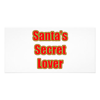 Santa's Secret Lover Photo Card Template