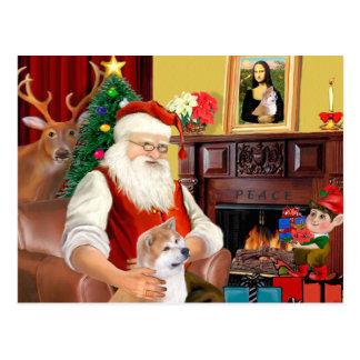 Santa's Shiba Inu (lkup) Postcard
