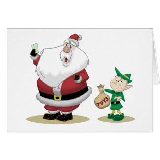 Santa's Short List Greeting Card