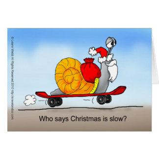 Santa's Skateboard Card